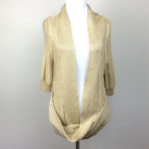 Anthropologie Moth Gold Cardigan